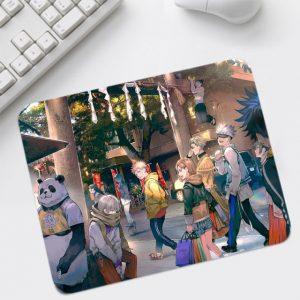 Big Promotion Jujutsu Kaisen Mouse Pads Anime Small Cool Pattern Anti slip Rubber Computer Desktop Mice 4.jpg 640x640 4 - Anime Mousepads