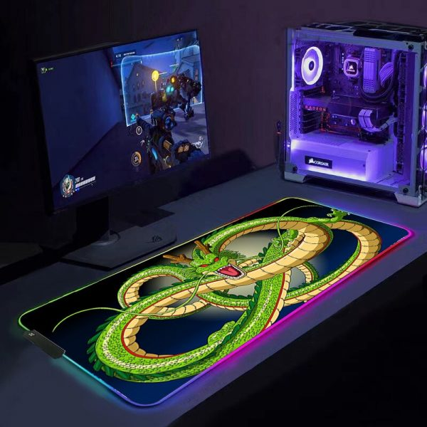 Cool Dragon LED RGB Gaming Mouse Pad Mousepad Mause Pad Keyboard Desk Carpet Game Rubber No - Anime Mousepads