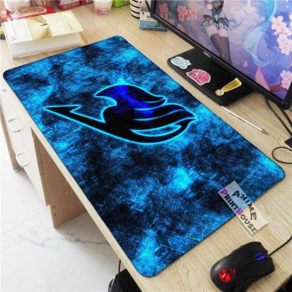 Fairy Tail Mouse Pad with Fairy Tail Logo APH0705 70x30CM / As Shown Official Anime Mouse Pads Merch