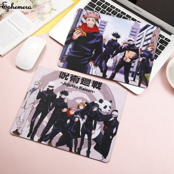 High Quality 26 21cm Jujutsu Kaisen Mouse pad Yuji Itadori Props Locking Edge Table mat Game 3 - Anime Mousepads