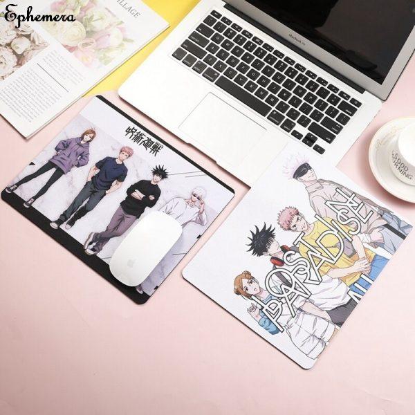 High Quality 26 21cm Jujutsu Kaisen Mouse pad Yuji Itadori Props Locking Edge Table mat Game 5 - Anime Mousepads