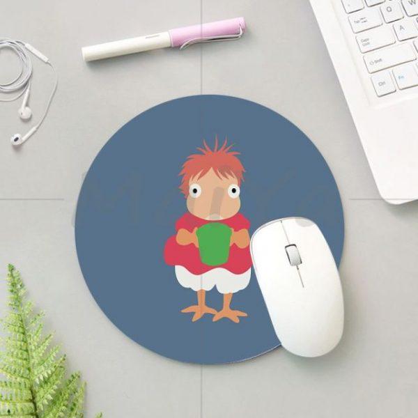 MaiYa 2018 Krajews Ponyo Studio Ghibli Silicone round mouse Pad to Mouse Game Anti Slip Laptop 3.jpg 640x640 3 - Anime Mousepads