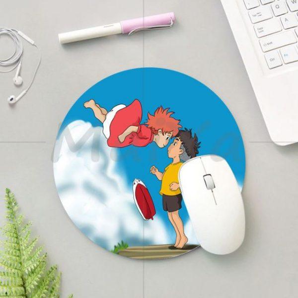 MaiYa 2018 Krajews Ponyo Studio Ghibli Silicone round mouse Pad to Mouse Game Anti Slip Laptop 4.jpg 640x640 4 - Anime Mousepads