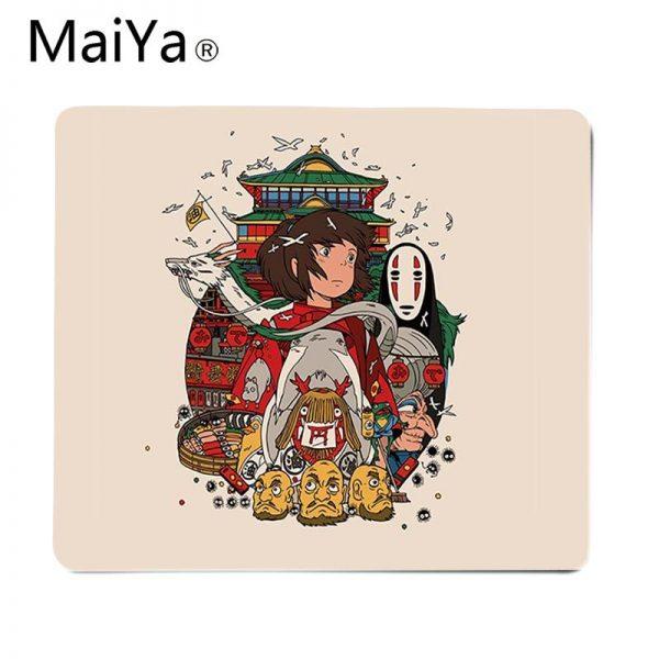 Maiya Top Quality Studio Ghibli Spirited Away gamer play mats Mousepad Top Selling Wholesale Gaming Pad 5 - Anime Mousepads