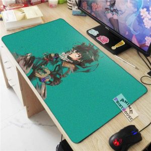 My Hero Academia Mouse Pad, Izuku in Green Background APH0705 70x30CM / As Shown Official Anime Mouse Pads Merch
