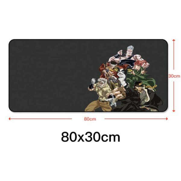 80x30cm Gaming Mousepad Locking Edge Anime Computer Rubber Mouse Pad for JOJO Bizarre Adventure Large Cartoon 3.jpg 640x640 3 - Anime Mousepads