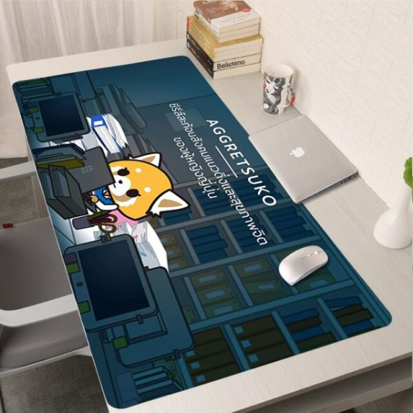 Aggretsuko XXL Mousepad Gamer Anime Mouse Pad Computer Accessories Keyboard Laptop Padmouse Speed Desk Mat Tappetino 18.jpg 640x640 18 - Anime Mousepads