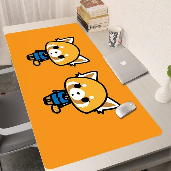 Aggretsuko XXL Mousepad Gamer Anime Mouse Pad Computer Accessories Keyboard Laptop Padmouse Speed Desk Mat Tappetino - Anime Mousepads