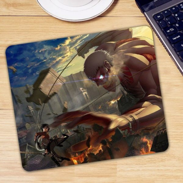 Anime Attack on Titan Mouse Pad Gamer Mice for Laptop PC Universal Comfortable Anti slip Mause 2.jpg 640x640 2 - Anime Mousepads