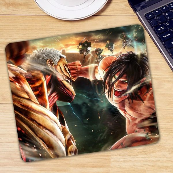 Anime Attack on Titan Mouse Pad Gamer Mice for Laptop PC Universal Comfortable Anti slip Mause - Anime Mousepads