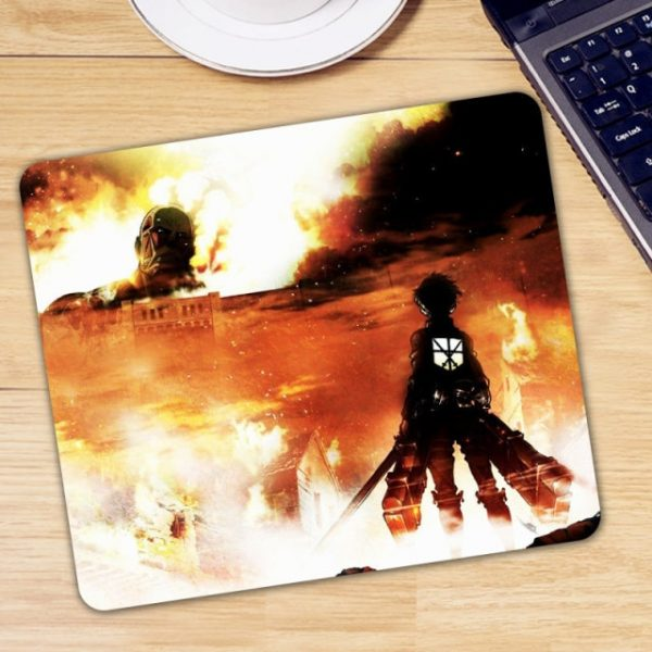 Anime Attack on Titan Mouse Pad Gamer Mice for Laptop PC Universal Comfortable Anti slip - Anime Mousepads