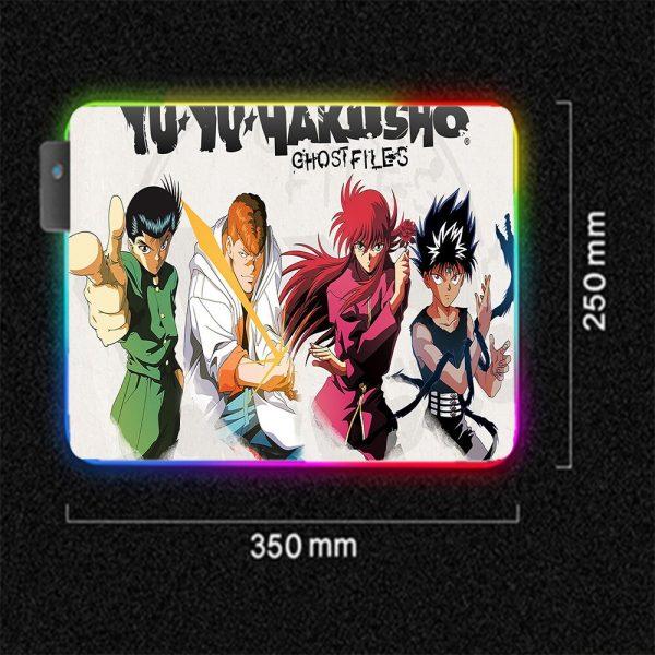 Anime RGB Yu Yu Hakusho Personagens Laptop Keyboard LED Anime Mousepad PC Connection Computer USB Gaming 1 - Anime Mousepads