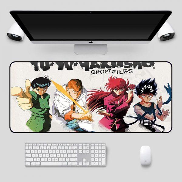 Anime RGB Yu Yu Hakusho Personagens Laptop Keyboard LED Anime Mousepad PC Connection Computer USB Gaming 3 - Anime Mousepads
