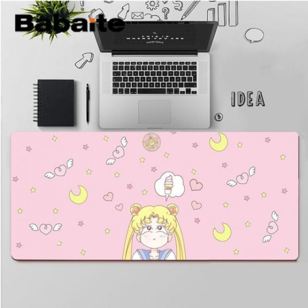 Babaite High Quality Pink Anime Moon Girl Customized laptop Gaming mouse pad Rubber Computer Gaming mousepad 3.jpg 640x640 3 - Anime Mousepads