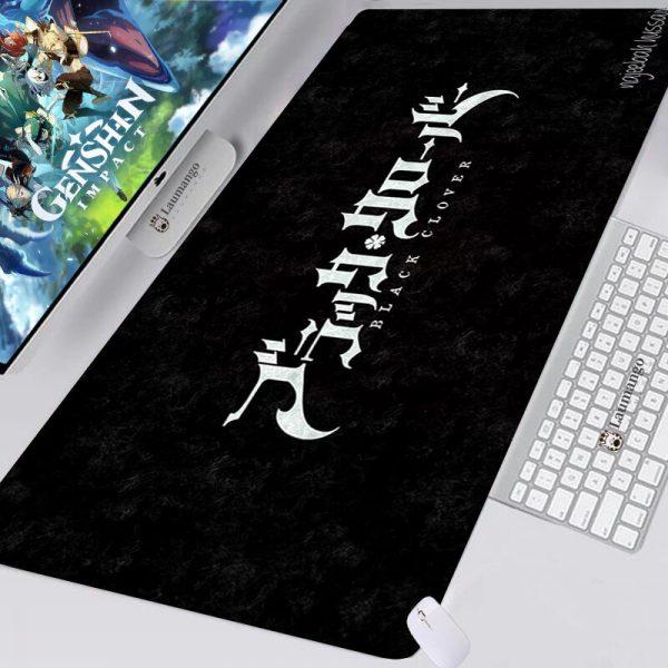 Black Clover Mousepad Kawaii Gaming Accessories Keyboard Computer Alfombrilla XXL Desk Mat Anime Mouse Pad Varmilo - Anime Mousepads