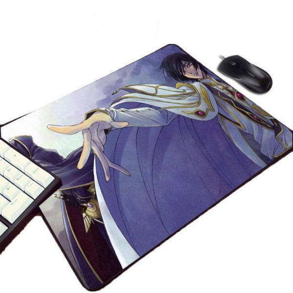 CODE GEASS Lelouch Lamperouge Zero Cool Anime Pattern Mousepad Animation Comic Mini Rubber Pc Notebook - Anime Mousepads