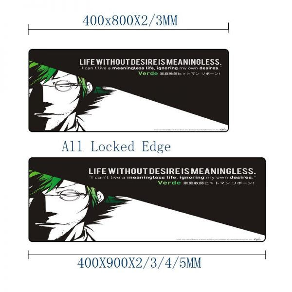 Mairuige High Quality Anti skid Wear Soft Table Mat HITMAN REBORN Anime Pattern Mouse Pad Pictures - Anime Mousepads