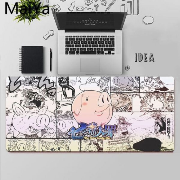 Maiya Anime The Seven Deadly Sins Gaming Player desk laptop Rubber Mouse Mat Free Shipping Large 3.jpg 640x640 3 - Anime Mousepads