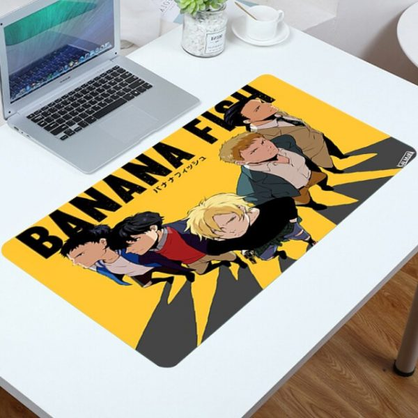Mouse Pad Cute Banana Fish Mousepad Gamer Mat Computer Anime Carpet Gamers Accessories Desk Protector Mouse 1.jpg 640x640 1 - Anime Mousepads