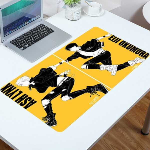 Mouse Pad Cute Banana Fish Mousepad Gamer Mat Computer Anime Carpet Gamers Accessories Desk Protector Mouse - Anime Mousepads