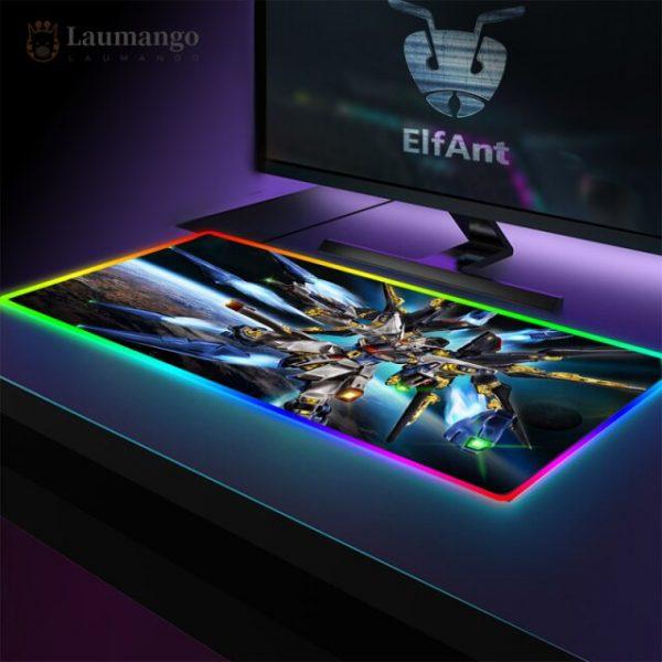 Mousepad Speed Locking Edge Luminous RGB Mause Pad Otaku Big Desk Carpet Wired 40x90cm Backlight - Anime Mousepads