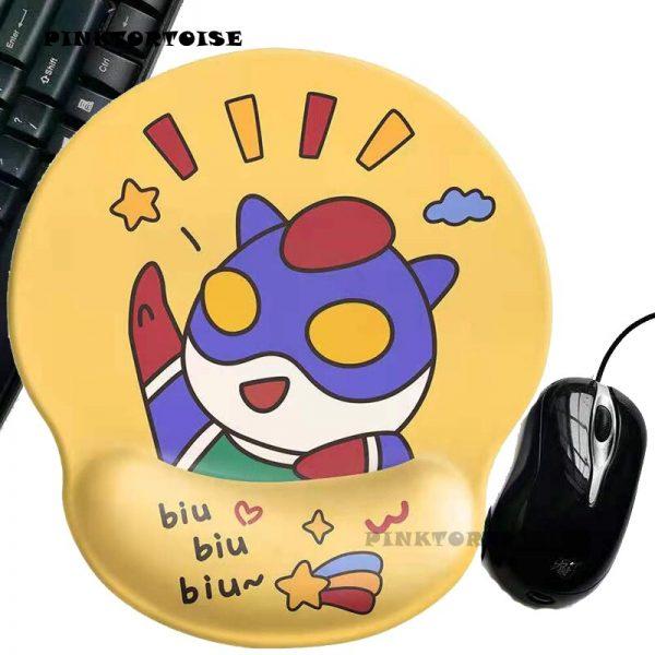 PINKTORTOISE Carton Ultraman Mousepad Creative Anime 3D Silicone MousePad Wrist Rest Support Mice mat pad playmat - Anime Mousepads