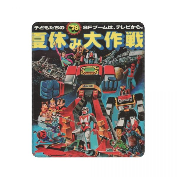 Popy 1978 Humor Mouse Pad Ultraman Japanese Anime Rider Hero Robot Kaiju Lockedge MousePad Rubber PC - Anime Mousepads