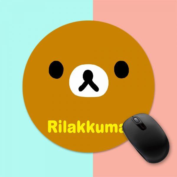 Rilakkuma Cute Cartoon Bear Round Mouse Mat Gaming Mouse Pad For PC Laptop Notebook 20x20cm Gamer 3 - Anime Mousepads