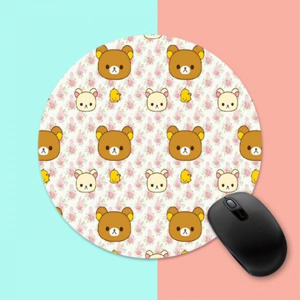 Rilakkuma Cute Cartoon Bear Round Mouse Mat Gaming Mouse Pad For PC Laptop Notebook 20x20cm Gamer 6.jpg 640x640 6 - Anime Mousepads