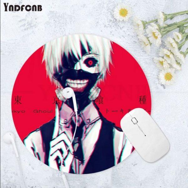 YNDFCNB 2021 New Tokyo Ghoul Natural Rubber Gaming mousepad Desk Mat Anti Slip Laptop PC Mice 3.jpg 640x640 3 - Anime Mousepads