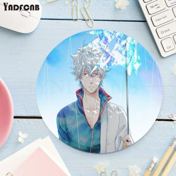 YNDFCNB My Favorite Anime GINTAMA Silicone round mouse Pad to Mouse Game gaming Mousepad Rug For 4.jpg 640x640 4 - Anime Mousepads