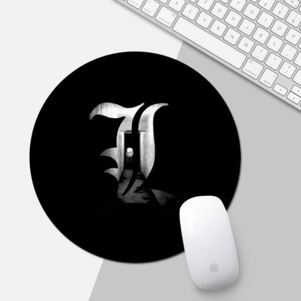 anime death note Rubber Mouse Durable Desktop Mousepad Game Office Work Round Mouse Mat pad XL 12.jpg 640x640 12 - Anime Mousepads