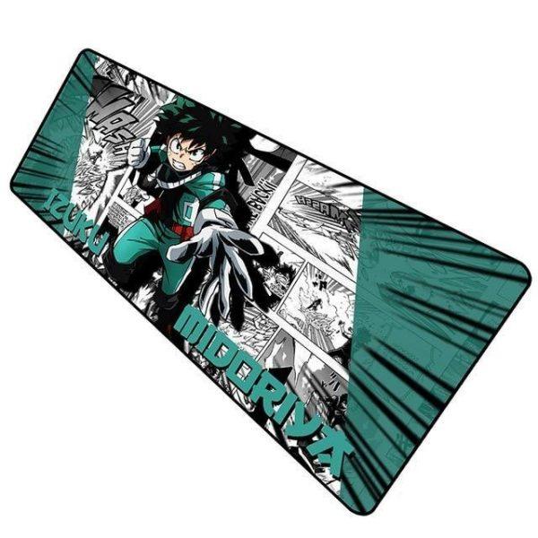 Green Midoriya Manga Burstout pad 1 / Size 600x300x2mm Official Anime Mousepads Merch