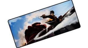 Eren Strikes the Colossal Titan pad 3 / Size 600x300x2mm Official Anime Mousepads Merch