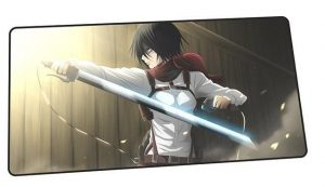 Mikasa Battle Stance design 3 / Size 600x300x2mm Official Anime Mousepads Merch