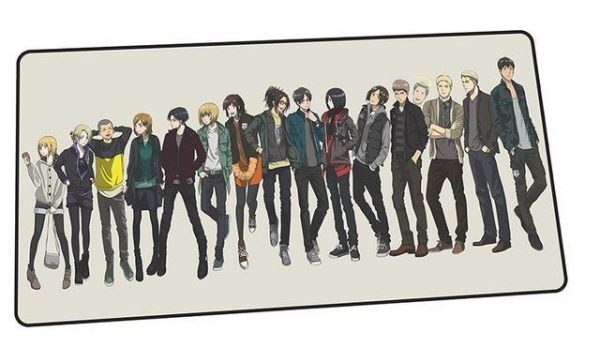Attack on Titan Modern-Casual Attire design 9 / Size 600x300x2mm Official Anime Mousepads Merch