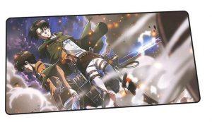 Eren x Levi The Battlegrounds design 10 / Size 600x300x2mm Official Anime Mousepads Merch