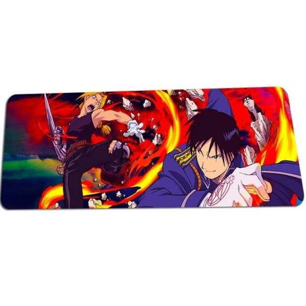 Edward Elric v Flame Mustang mat 8 / Size 700x300x2mm Official Anime Mousepads Merch