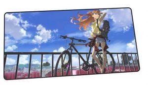 Cyclist Asuka design 9 / Size 600x300x2mm Official Anime Mousepads Merch