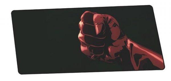 Saitama's Red Fist design 7 / Size 800x300x3mm Official Anime Mousepads Merch