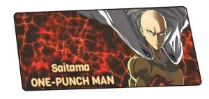 Molten Rock Saitama design 8 / Size 600x300x2mm Official Anime Mousepads Merch