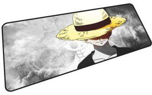 Black and White Strawhat Luffy mousepad 3 / Size 600x300x2mm Official Anime Mousepads Merch