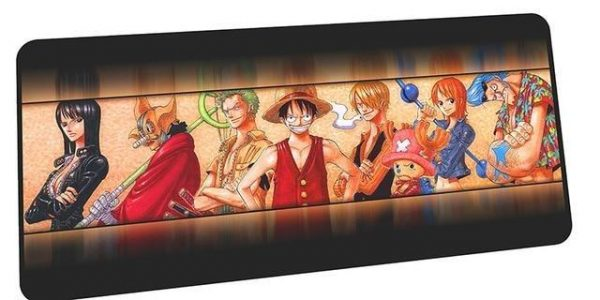 Colorful Strawhats mousepad 5 / Size 600x300x2mm Official Anime Mousepads Merch