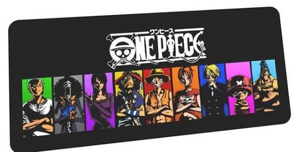 Full Strawhat Crew mousepad 6 / Size 600x300x2mm Official Anime Mousepads Merch
