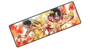 Luffy and Ace Fighting together pad 6 / Size 700x300x3mm Official Anime Mousepads Merch
