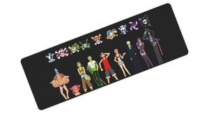 Strawhat Emblem and Crew pad 7 / Size 700x300x2mm Official Anime Mousepads Merch