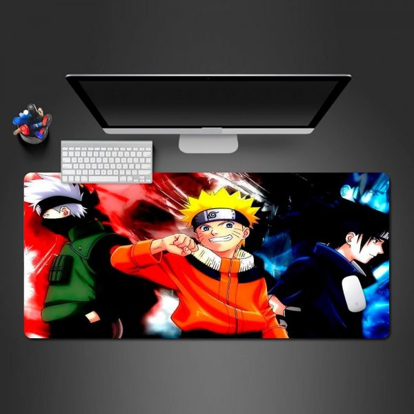 Kakashi x Naruto x Sasuke 250x290x2mm Official Anime Mousepads Merch