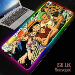 Original Strawhat Crew 250x350mm / Thickness 3 mm Official Anime Mousepads Merch