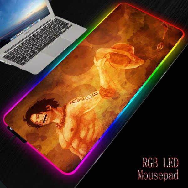 Ace Holding Hat NO LED 200X200X2MM Official Anime Mousepads Merch
