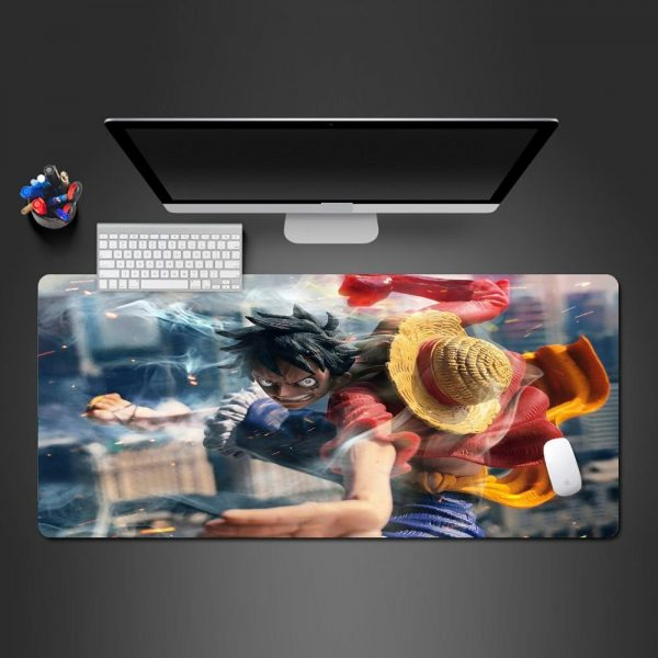 Pissed Off 3D Luffy 250x290x2mm Official Anime Mousepads Merch
